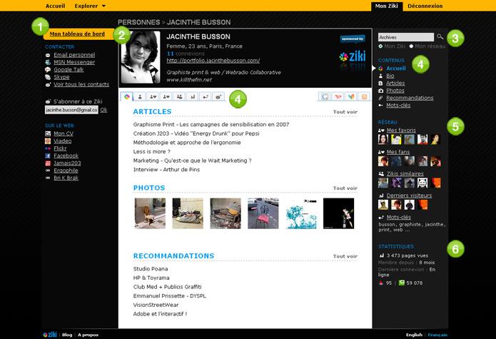 Page profil
